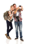 Couple taking self portrait — Stock Photo