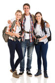 Group of tourists standing together — Stock Photo