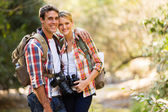 Young couple hiking in mountain — Stock Photo