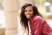 Young african woman in urban city — Stock Photo