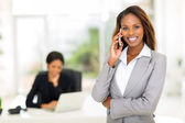 African american businesswoman talking on smart phone — Stock Photo