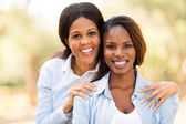 Middle aged african mother and adult daughter — Stock Photo