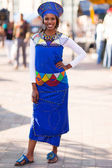 African woman in tradional attire — Stock Photo