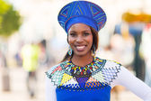 Young african woman in traditional clothes — Stockfoto