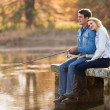 Young couple fishing — Stock Photo #50610991