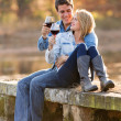 Couple drinking red wine  — Stock Photo #50613211