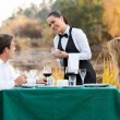 Waitress taking order from customer — Stock Photo #50614559