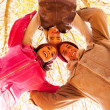 Underneath view of group of friends — Stock Photo #50630363