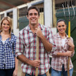 Group of stable workers — Stock Photo #50644441