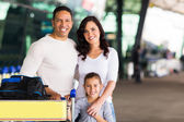 Travelling family — Stock Photo