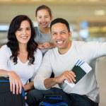 Family holding boarding pass — Stock Photo #51621645