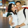 Couple with flight tickets — Stock Photo #51625687