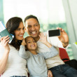 Family taking self portrait — Stock Photo #51629297