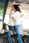 Couple hugging before parting — Stock Photo
