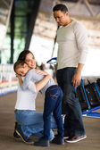 Woman hugging daughter — Stock Photo
