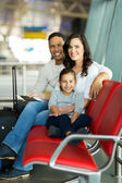 Family waiting for flight — Stock Photo