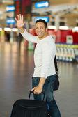 Człowiek machając na pożegnanie — Zdjęcie stockowe