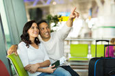 Middle aged couple at airport — Stock Photo