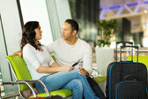 Couple waiting for flight — Stock Photo