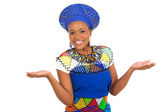 African woman in traditional clothes — Stock Photo