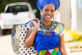 African lady in shopping mall — Stock Photo