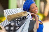 African shopper — Stock Photo