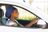 African female driver — Stock Photo
