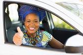 Woman inside car — Stock Photo