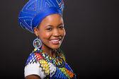 Zulu girl wearing traditional attire — Stock Photo