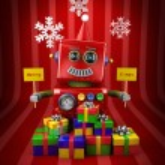 Merry Christmas Robot — Stock Photo