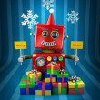 Stock Photo: Merry Christmas Robot