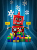 メリー クリスマス ロボット — ストック写真