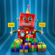 Royalty-Free Stock Photo: Happy Birthday Robot