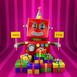 Happy Birthday Robot — Stockfoto