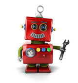 Toy mechanic robot — Stock Photo