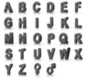 Alphabet Set — Stockfoto