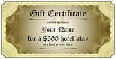 Gift Certificate — Stock Vector