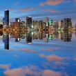 Stock Photo: Miami Skyline at dusk