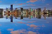 Miami Skyline at dusk — Stock Photo