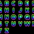 Stock Photo: Colorful Neon Letters