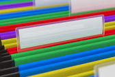 Multi colored File Folders — Stock Photo