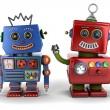 Toy robot buddies — Stock Photo