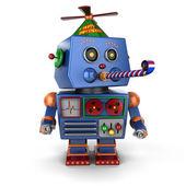 Alles gute zum geburtstag-spielzeug-roboter — Stockfoto