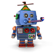 Happy Birthday toy robot — Stok fotoğraf