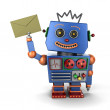 Vintage toy robot with envelope — Stock Photo #26779755