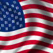 USA spion vlag concept — Stockfoto