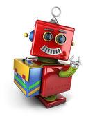 Student toy robot — Stock Photo