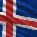 vlag van IJsland — Stockfoto
