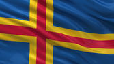 Flag of Aland — Stock Photo
