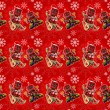 Seamless red christmas background — Stockfoto